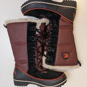 Sorel Tivoli Tall Winter Boots Burgundy Women's 8
